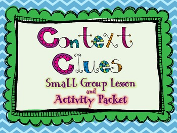 Common Core Context Clues Packet (Lesson, Practice, Task Cards) Differentiated