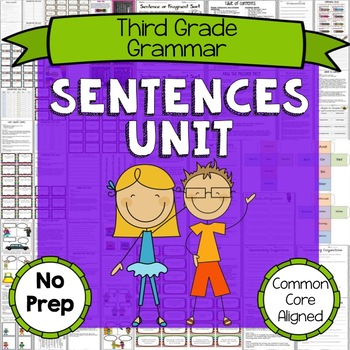 3rd Grade Punctuation and Sentences Unit