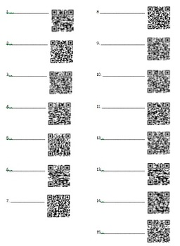 Common Core - Cooperative Learning Stations using QR Codes