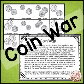 """Counting Coin Games """"Money Games"""""""