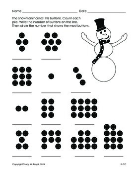 Common Core Counting, Snowman Activity