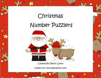 Common Core Counting/Skip Counting Leveled Christmas Number Puzzlers