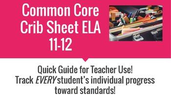 Common Core Crib Sheet ELA 11-12