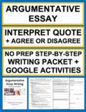 Critical Essay Quote Interpretation & Opinion: NY Regents