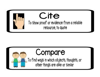Common Core Critical Verbs