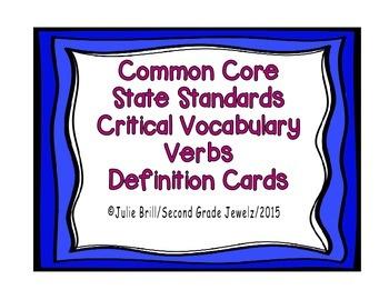 Common Core Critical Verbs