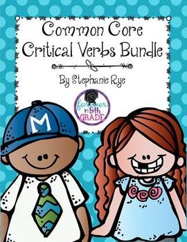 Common Core Critical Verbs Bundle