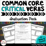 Test Prep Critical Verbs Testing Vocabulary Instruction Pack - Distance Learning