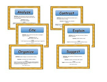 Common Core Critical Verbs Power Point Resource Pack