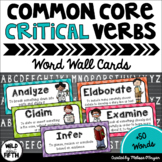Test Prep Critical Verbs Testing Vocabulary Word Wall Cards