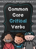 Common Core Critical Verbs Vocabulary Word Wall Cards - Custom Product