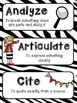 Common Core Critical Verbs Vocabulary Word Wall Cards - Cu