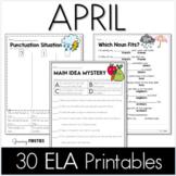 Common Core Crunch - April - ELA CCSS Printables
