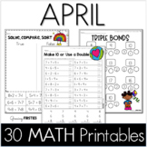 Common Core Crunch - April - MATH - CCSS Printables - Growing Firsties