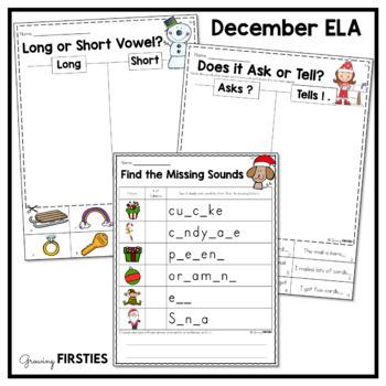 December Printables - ELA Common Core Crunch