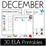 December Printables - ELA Common Core Crunch