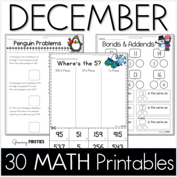December Printables - Math Common Core Crunch