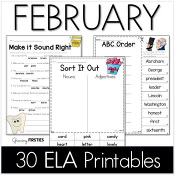 Common Core Crunch - February - ELA CCSS Printables