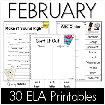 February Printables - ELA Common Core Crunch