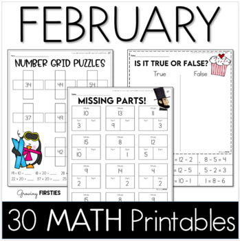Common Core Crunch - February - MATH - CCSS Printables - G