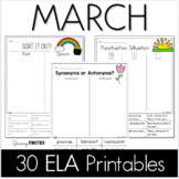 March ELA Printables and Digital