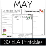 May Printables - ELA Common Core Crunch