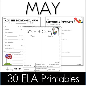 May Printables - ELA Common Core Crunch