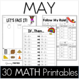 Common Core Crunch - May - MATH - CCSS Printables - Growing Firsties