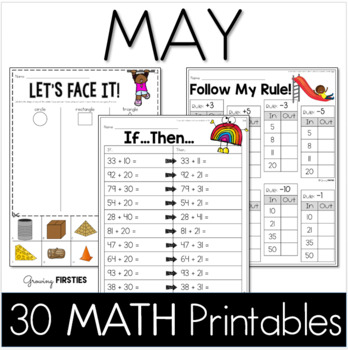 Common Core Crunch - May - MATH - CCSS Printables - Growin