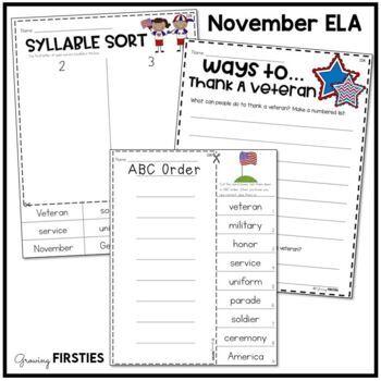 November Printables - ELA Common Core Crunch
