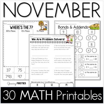 November Printables - Math Common Core Crunch