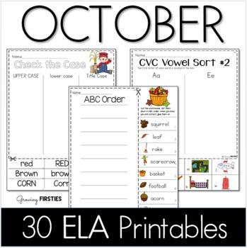 October Printables - ELA Common Core Crunch