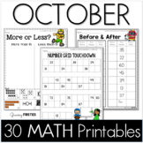 October Printables - Math Common Core Crunch