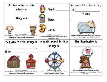 Common Core Cubes~ Kindergarten~ Reading Comprehension