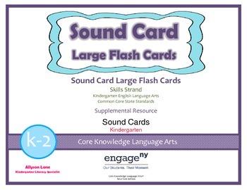 Common Core Curriculum Large Sound Card Flash Cards, Grades K-2 Freebie