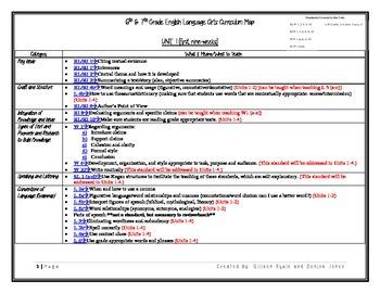 Common Core Curriculum Map 6-7 ELA