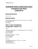 Common Core Language Arts Curriculum Map - Grade 6