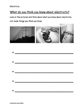 Common Core Curriculum Maps 1st Grade Life Lessons Unit Week 4 Electricity