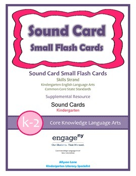Common Core Curriculum Small Sound Card Flash Cards, Grades K-2 Freebie