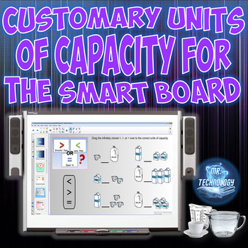 Common Core Customary Units of Capacity for the SMART Board
