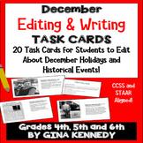 "December Themed ""Daily Editing"" Writing Task Cards, Fun Hi"