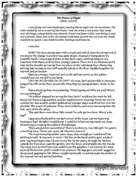 Common Core DIFFERENTIATED Literary Passage- A Short Story on Hope and Courage