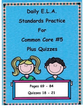 Morning Work DOL For 3rd Grade Common Core ELA #5 Plus Quizzes