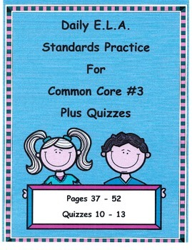 DOL Morning Work For 3rd Grade Common Core E.L.A. #3 Plus Quizzes!