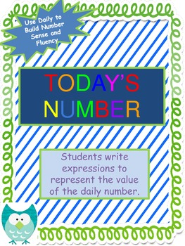 Common Core Daily Activity - Today's Number