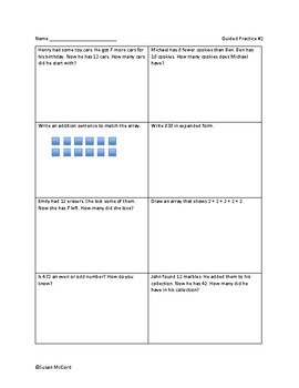Daily Class Review With Math Homework- 1st Nine Weeks
