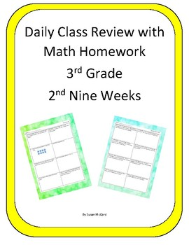 Common Core Daily Class Review with Math Homework - 2nd Ni