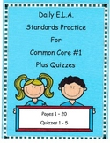 Morning Work DOL Common Core Dailies For E.L.A #1 Plus Quizzes!! (3rd Grade)
