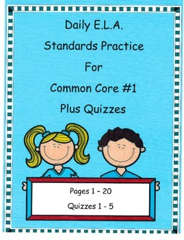 Morning Work DOL Common Core Dailies For E.L.A #1 Plus Qui