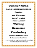 Common Core Daily Grammar Writing Vocabulary Skills Workbo
